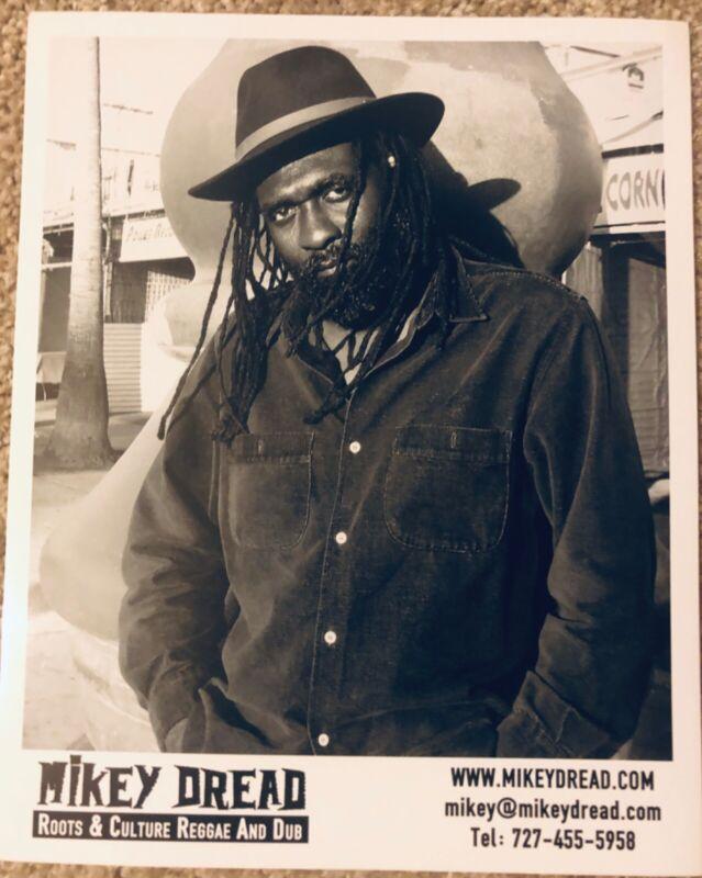 RARE—MIKEY DREAD reggae Clash black & white glossy 8 x 10 press/promo photo