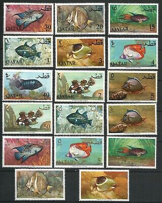 Qatar 1965 Fish complete set in UM mint never hinged condition, SG: 70-86, very