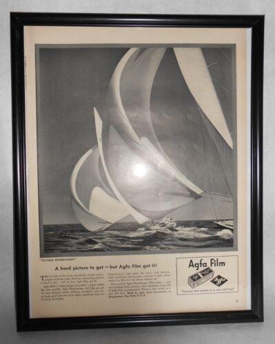 1943 Life Magazine Advertisement Agfa Film