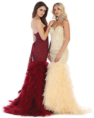 UNIQUE GALA PAGEANT GOWN SWEET 16 FITTED EVENING DRESS FORMAL SPECIAL OCCASION