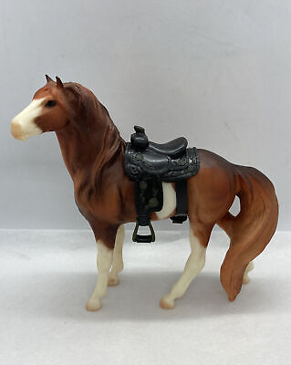 """Beautiful Vintage Breyer Reeves Horse With Saddle 7-1/8"""" Tall"""