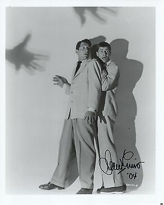 JERRY LEWIS autographed 8x10 photo      SCARY POSE DEAN MARTIN