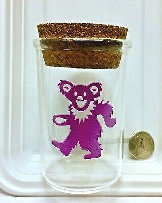 Grateful Dead Dancing Bear Glass Jar Great for - Grateful Dead Dancing Bear