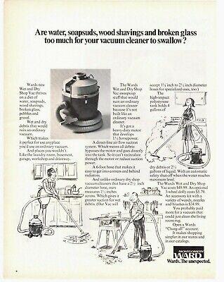1971 ORIGINAL VINTAGE MONTGOMERY WARD VACUUM CATALOG CLEANER MAGAZINE AD