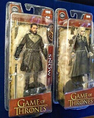 Game of Thrones Jon Snow & Daenerys Targaryen Action Figures HBO McFarlane toys