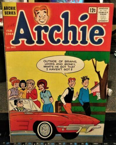 ARCHIE  COMIC BOOK    1964 CORVETTE ON COVER   /   FEBRUARY 1964  /  STINGRAY