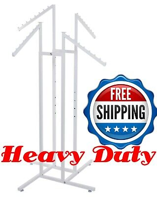 4 Way Clothing Garment Display Rack Heavy Duty For Retail Shop Store Commercial