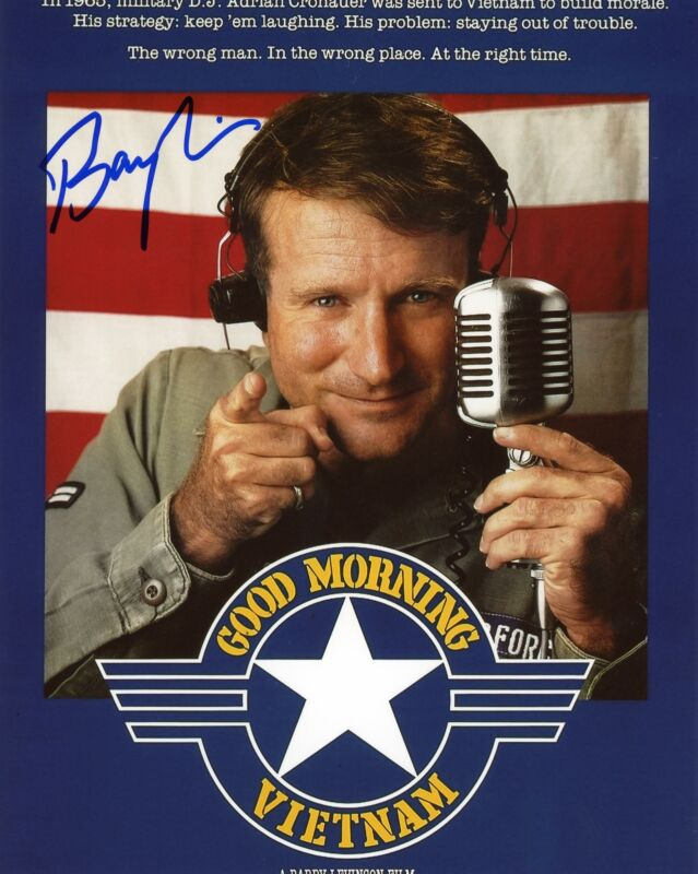 "Barry Levinson ""Good Morning Vietnam"" Director AUTOGRAPH Signed 8x10 Photo ACOA"