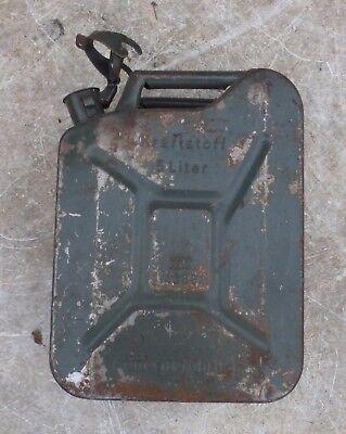 alter Blechkanister 🐷 Benzinkanister Kanister DDR TGL Kraftstoffbehälter 5 L 🌸