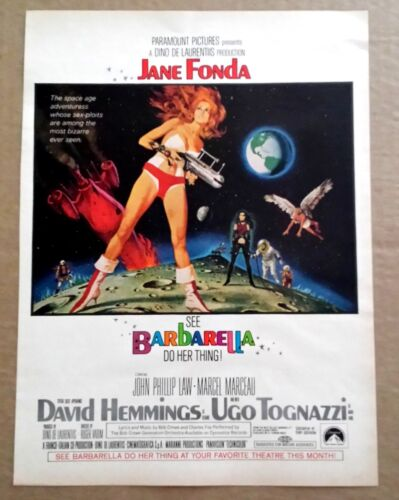 Barbarella 1968 Vintage Color Ad 10x13 Jane Fonda Sci-Fi Roger Vadim