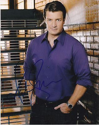 Nathan Fillion ++ Autogramm ++ Firefly ++ Castle James Ryan Autograph
