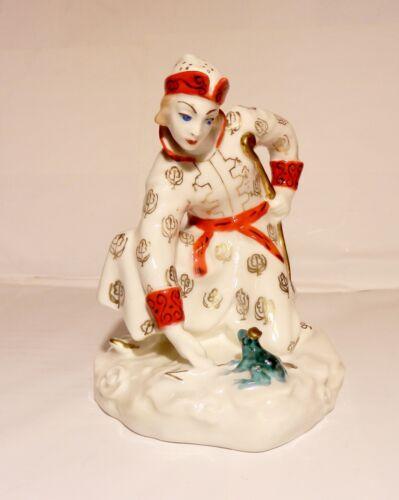 Iwan Zarewitsch und Froschzarin Porzellan Figur, LZFI, russische Porzellan,UdSSR