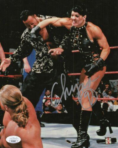 "Chyna Autograph Signed 8x10 Photo - WWF WWE ""Ninth Wonder"" (JSA COA)"