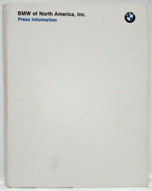 1992 BMW Press Kit - 3 5 7 8 Series