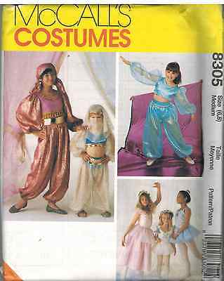 8305 Uncut Mccalls Nähmuster Kinder Halloween Kostüm Harem Wahrsagerin