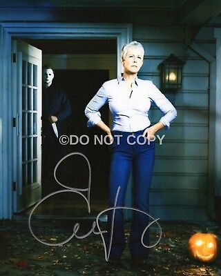 Jamie Lee Curtis Halloween Michael Myers Rare Autographed Signed 8x10 Reprint