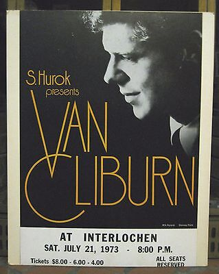 Poster Van Cliburn at Interlochen Saturday July 21 1973 Michigan Center for Arts