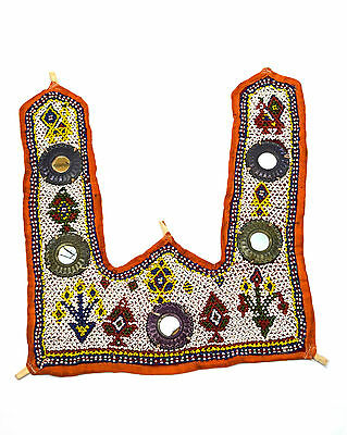 Vintage Hand Embroidery Work Rare Kutch Heavy Beaded Wall Hanging Décor.i17-8 UK
