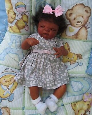 Reborn baby girl doll anatomically correct Realistic biracial Ethnic AA for sale  Trenary