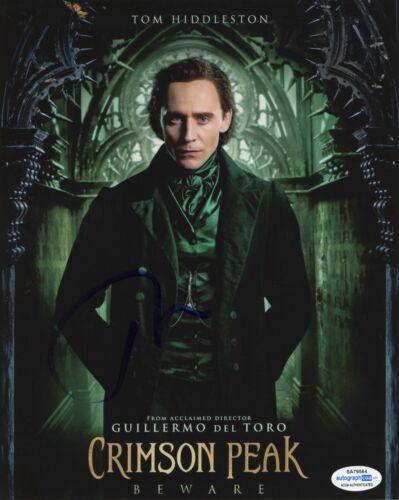 Tom Hiddleston Crimson Peak Autographed Signed 8x10 Photo ACOA
