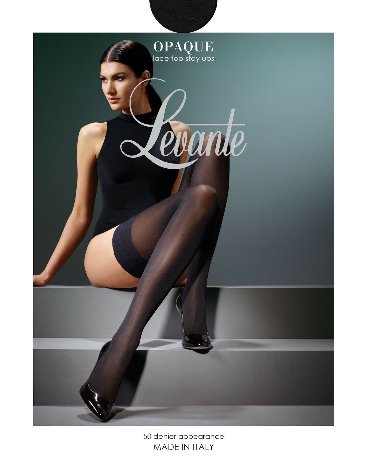 Levante Fishnet Lace Top Hold Ups