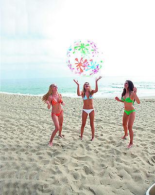 Jumbo Beach Ball 48 (JUMBO SPLASH & PLAY BEACH BALL Summer Fesitval Pool Swim 48 Inch HUGE)