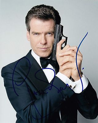 Pierce Brosnan ++ Autogramm ++ James Bond + Der Morgen stirbt nie 007 Autograph