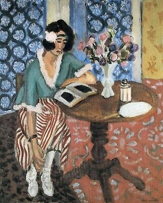 Woman Reading 2 by Henri Matisse - Van-Go Paint-By-Number Kit  Henri Matisse Woman Reading