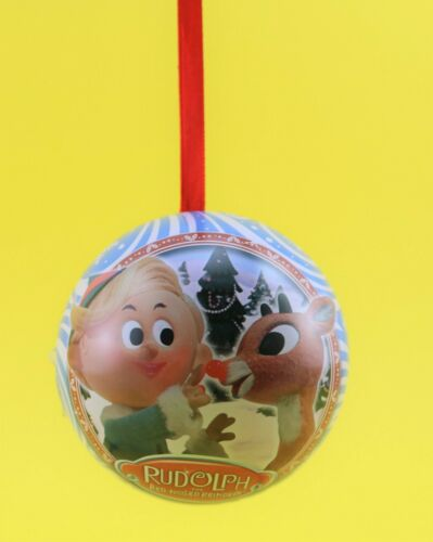 RUDLOPH the RED NOSED REINDEER Advent Surprise Inside Christmas Ornament IOB
