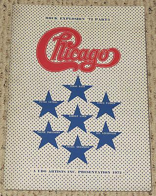 1972 Chicago Concert Large Tour Book program Japan Terry Kath