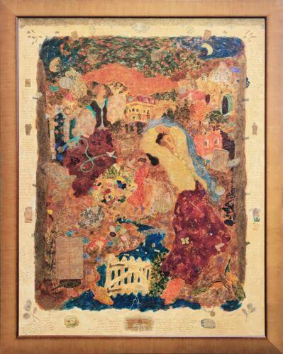 """Roy Fairchild-woodard """"cradle Song""""   Signed Embellished On Linen  60x47"""" Framed"""