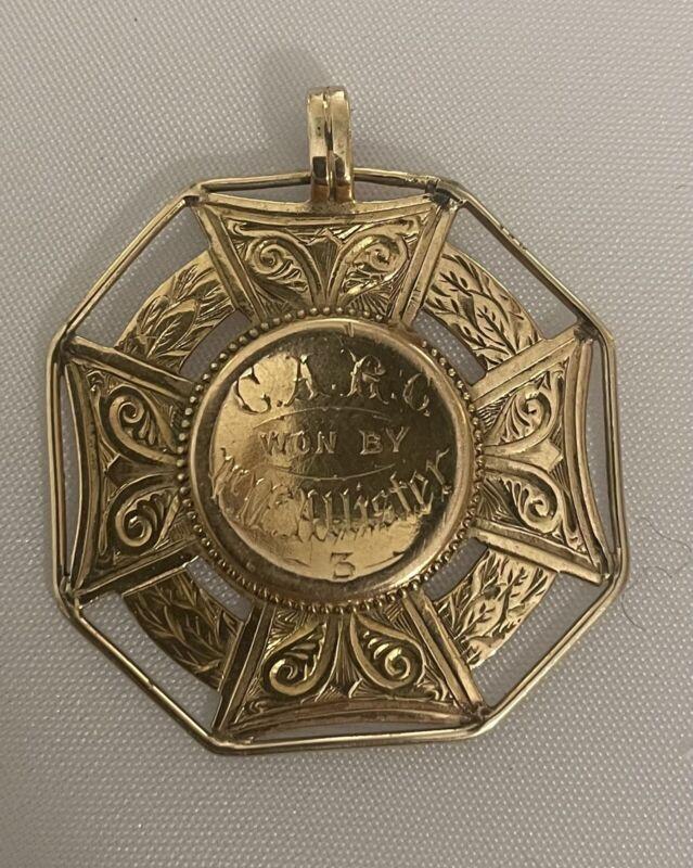 BANN Rowing Club Junior Fours 15K Gold Regatta Medal 1886 9.62 Grams McAllister