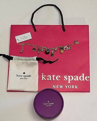 RARE Kate Spade Hawaiian Multi Charm Bracelet Hawaii Exclusive Gift NWT