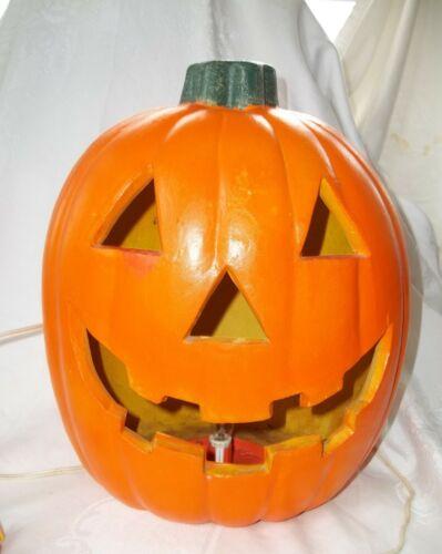 "1998 PAPER MAGIC GROUP Halloween PUMPKIN JACK-O-LANTERN Lamp Light 14"" H Foam"
