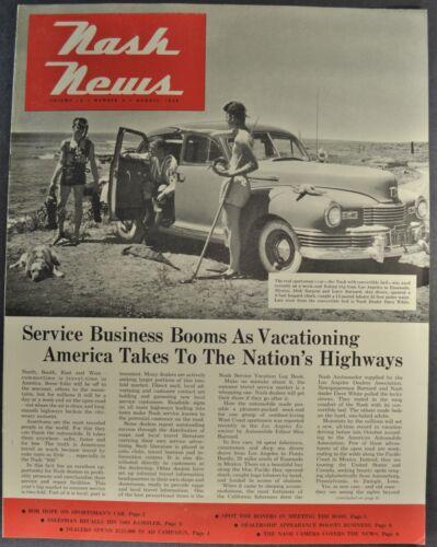 1948 Nash News Dealership Magazine 600 Sedan Excellent Original 48