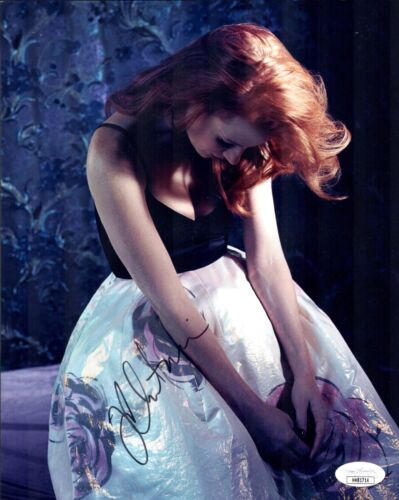 JESSICA CHASTAIN Hand Signed 8X10 Photo Sexy IN PERSON Autograph JSA COA Cert