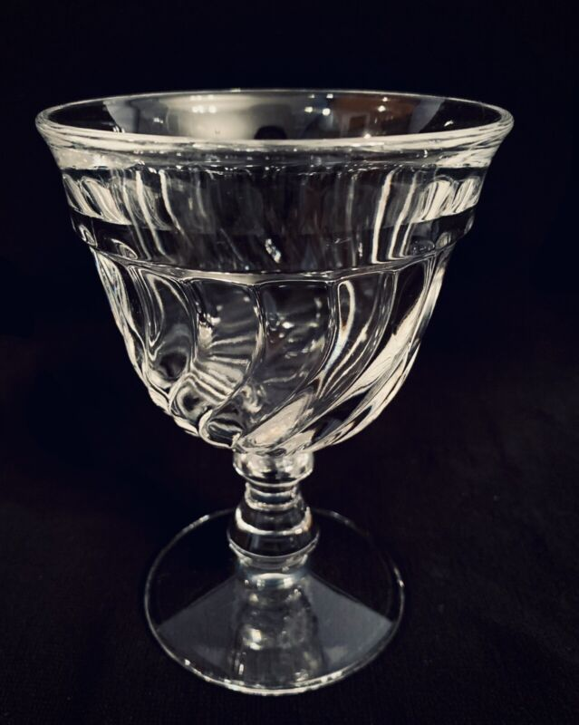 """Fostoria Colony Elegant Glass Water Goblet Swirl 5 1/2"""" Tall -Multiple Available"""