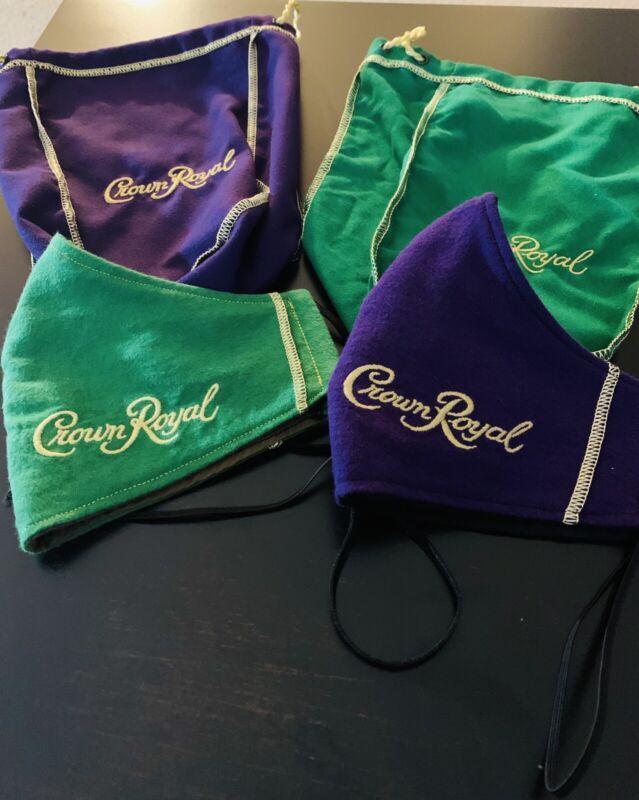 Green And Purple Crown royal Mask Bundle