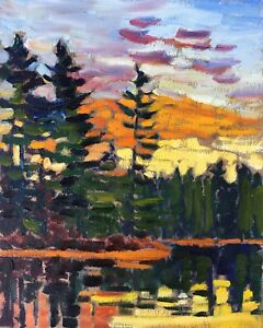 Canadian landscape oil paintings