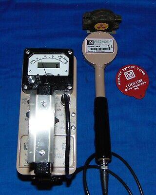 Ludlum 3 W 44-9 Gm Scaler Optiion Pancake Probe Geiger Radiation Abg