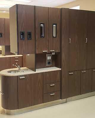 Midmark Dental Center Island Cabinet W X-ray Pass Through Savory Walnut