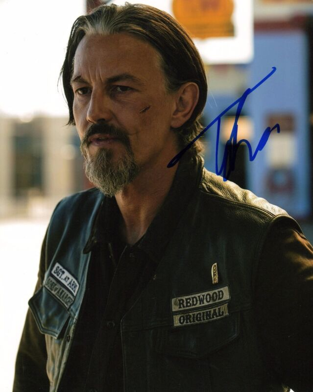 GFA Sons of Anarchy * TOMMY FLANAGAN * Signed Autograph 8x10 Photo PROOF AD2 COA