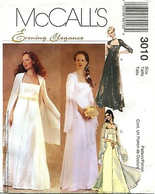 McCalls 3010 Renaissance Bridal Wedding Gown & Bridesmaids Dress Sewing Pattern  - Renaissance Dress Pattern