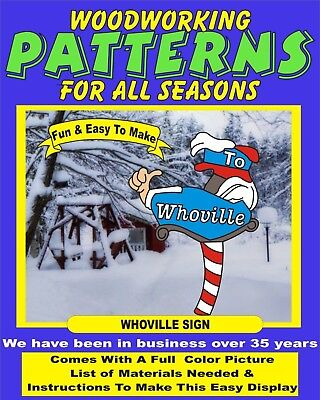 WHOVILLE SIGN WH106 CHRISTMAS YARD ART PATTERN WOOD WORKING patternsrus](Christmas Yard Signs)