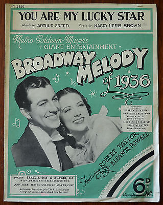 You Are My Lucky Star by Arthur Freed & N Brown – Broadway Melody of 1936 –p1935