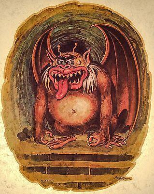 70's Party Demon Devil Gargoyle Halloween Monsters vTg t-shirt iron-on Transfer - 70s Halloween Party