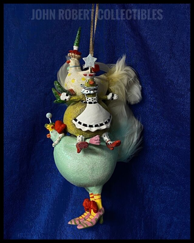 PATIENCE BREWSTER KRINKLES THREE FRENCH HENS CHRISTMAS ORNAMENT 08-30478S