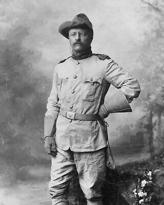 Theodore Teddy Roosevelt Rough Riders Famous Portrait 11 x 14 Photo Photograph