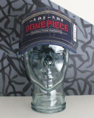 RARE! 90s Vintage Domepiece Denim Headwear Co. Unisex Dark Fitted Cap OS (7 3/8) (90s Headwear)
