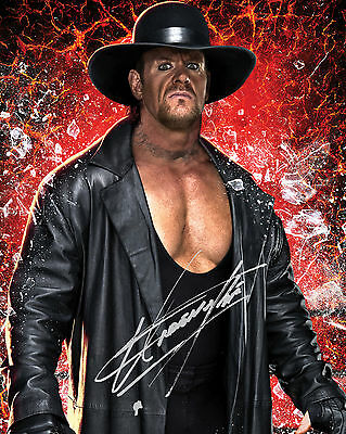 THE UNERTAKER #3 (WWE) - 10X8 PRE PRINTED LAB QUALITY PHOTO PRINT